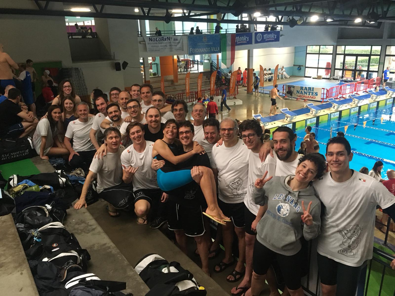 """12° Trofeo Città di Legnano : Nuotatori del Carroccio , una medaglia di """"Legno"""" ….  MA sempre con il Sorriso !"""