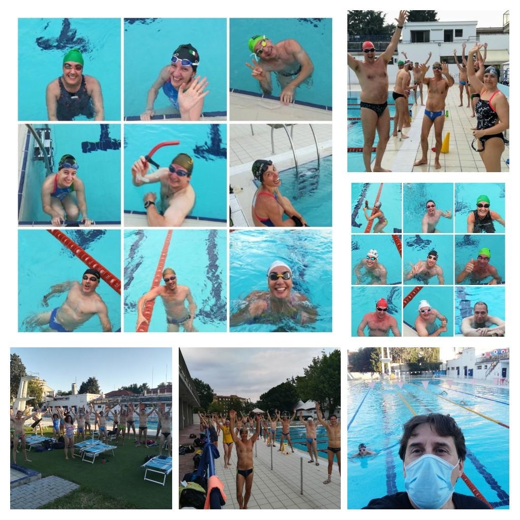 Nuotarori del Carroccio ripresa dopo lockdown 22 giugno 2020